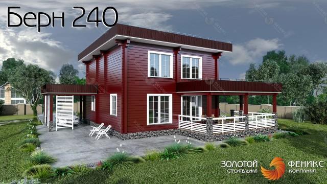 """Дом из клееного бруса """"Берн 240"""""""