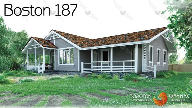 """Дом из клееного бруса """"Boston 187"""""""