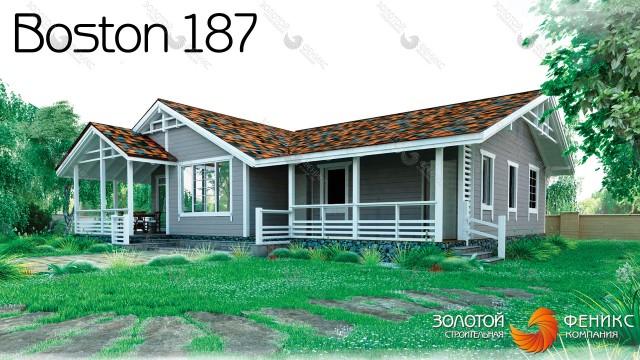 """Красивый одноэтажный панельно-каркасный дом """"Boston 187"""""""
