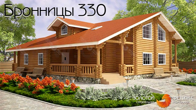 """Большой дом из клееного бруса """"Бронницы 330"""""""