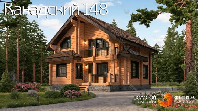 Дом 9х12 из клееного бруса с функциональной продуманной планировкой, 4 спальнями и гардеробной