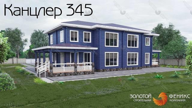 "Дом из клееного бруса ""Канцлер 345"""