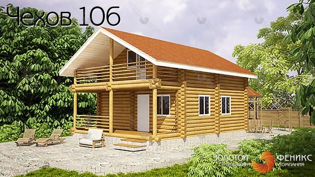 """Баня, гостевой дом из бревна """"Чехов 106"""""""