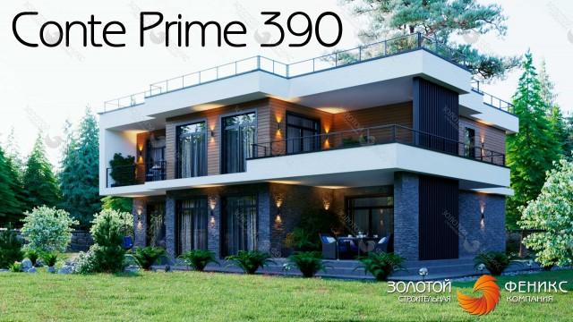 """Большой современный каменный дом в стиле """"Хай-тек"""" площадью 390 кв. м с навесом для двух машин и 5 спальнями"""