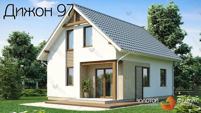 """Компактный и практичный каркасно-панельный дом """"Дижон 97"""""""