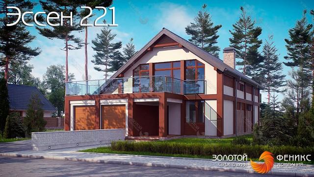 """Просторный современный дом элегантного дизайна с террасой над гаражом Эссен 221"""""""