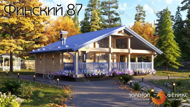 """Гостевой дом, гостевой дом с баней из клееного бруса """"Финский 87"""""""