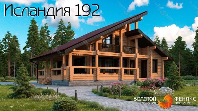 Дом 11 на 13 из клееного бруса с современной оригинальной архитектурой в скандинавском стиле
