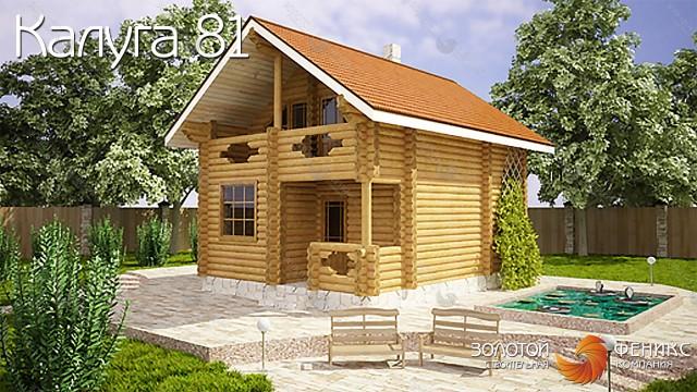 """Баня из бревна, гостевой дом """"Калуга 81"""""""
