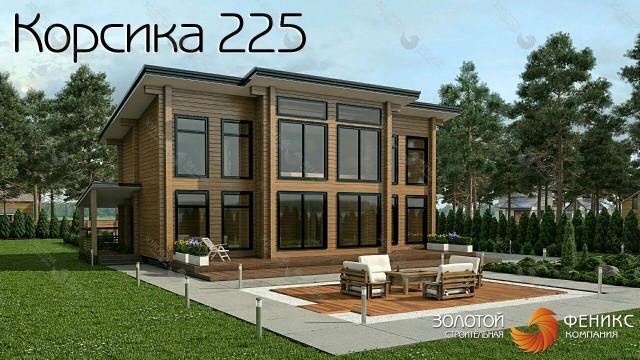 """Дом из клееного бруса """"Корсика 225"""""""