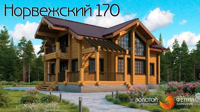 Красивый дом из бруса с мансардой, 4 спальнями, одна из которых на 1 этаже, вторым светом и угловой террасой