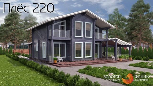 "Дом из клееного бруса ""Плёс 220"""