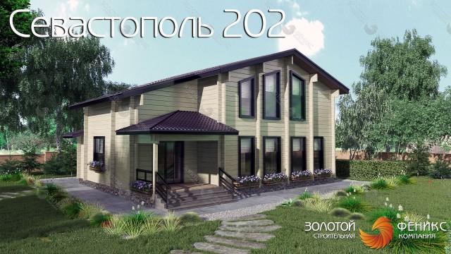 """Дом из клееного бруса """"Севастополь 202"""""""