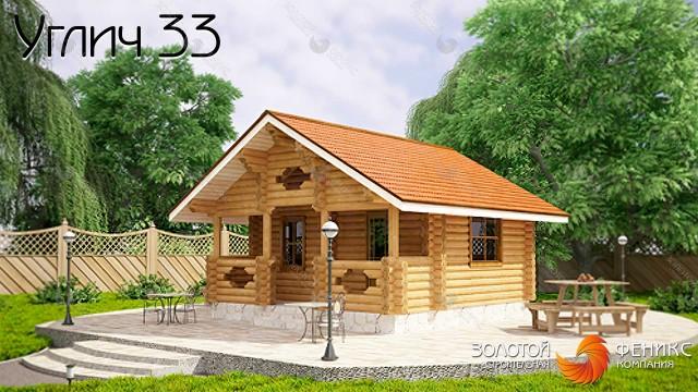 "Баня из бревна ""Углич 33"""