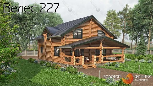 """Красивый дом из бревна """"Велес 227"""""""